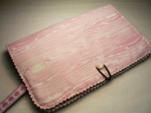 Pink woodgrain book cover by loveevol