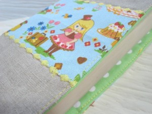 Alice in wonderland linen book cover by simbiosisbyjulia