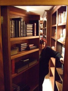 "Holly Black in her ""hidden library"""