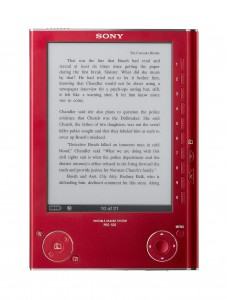 Sony eReader in Sangria Red