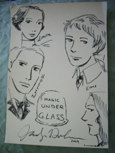 Magic Under Glass character drawings