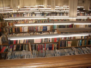 The Strand: view of shelves on the 1st floor