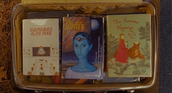Moonrise Kingdom: Suzy's suitcase of books