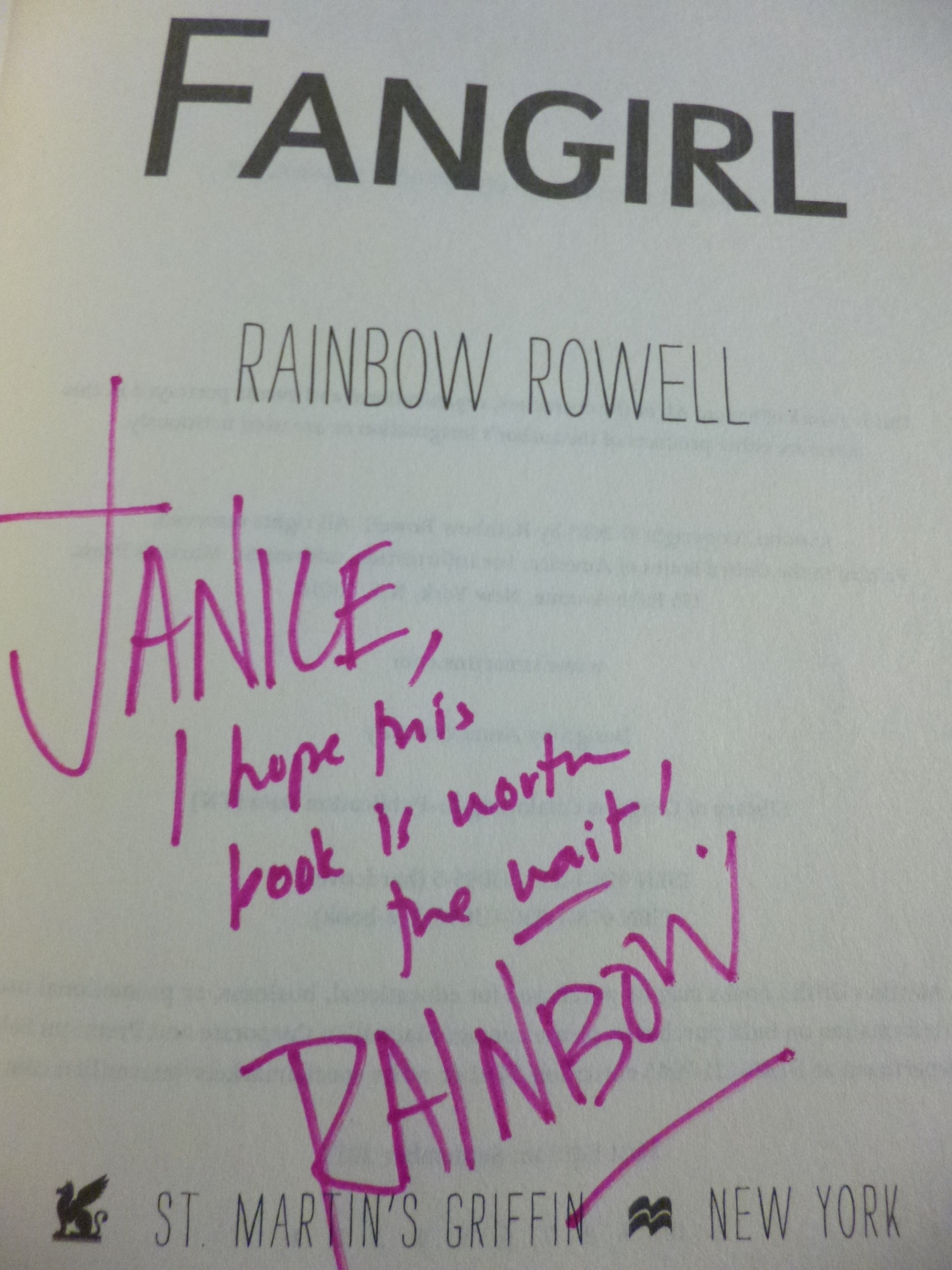 fangirl by rainbow rowell specficromantic