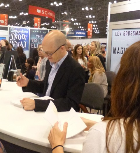 "Lev Grossman signing The Magician""s Land"
